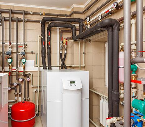 Installation chaudière à gaz sol